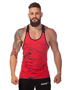 billiga Träning-, jogging- och yogakläder-Herr Brottarrygg Gymlinne - Gul, Röd, Vit / Svart sporter Djur Väst / Linne / Överdelar Motion & Fitness, Löpning Plusstorlekar