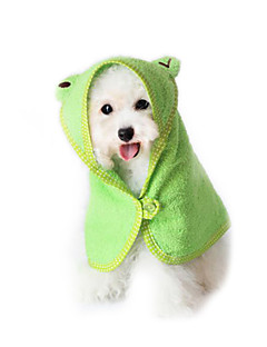 billiga Hundkläder-Katt / Hund Handduk Bärbar Grön / Blå / Rosa