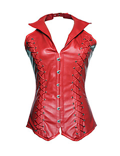 Women Overbust Corset,Genuine Leather Hook & Eye Comfortable crisp Beautiful