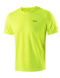 billiga Träning-, jogging- och yogakläder-Arsuxeo Herr Rund hals T-shirt för jogging - Ljusgul, Himmelsblå, Mörkgrå sporter T-shirt / Överdelar Fitness, Gym, Träna Kortärmad Sportkläder Snabb tork, Antistatisk, Andningsfunktion Oelastisk