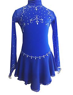 Eiskunstlaufkleid Damen Mädchen Eiskunstlaufkleider Langarm Outdoor Kleidung Leistung Eiskunstlaufkleidung Elastan Kleider Eislaufen