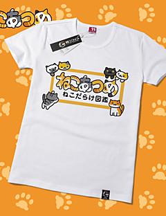 """billige Anime cosplay-Inspirert av Neko Atsume Kat Anime  """"Cosplay-kostymer"""" Cosplay T-skjorte Trykt mønster Kortermet T-Trøye Til Unisex"""
