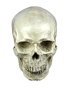 Skjelett/Kranium Maske Unisex Halloween De dødes dag Festival/høytid Halloween-kostymer Elfenben Ensfarget