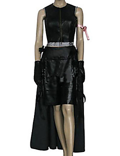 cheap Videogame Costumes-Inspired by Final Fantasy Tifa Lockhart Video Game Cosplay Costumes Cosplay Suits Solid Sleeveless Top Skirt Shorts