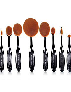 10 Brush Sets Synthetisch haar Professioneel / Beugel Plastic Lip / Gezicht / Oog MAKE-UP FOR YOU
