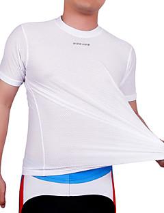 tanie Bielizna i odzież termoaktywna-WOSAWE Krótki rękaw Koszulka rowerowa - White Rower Koszulka, Quick Dry, Anatomiczny kształt, Oddychający, Odvádí pot