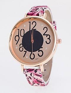 billige Leopard-ure-Dame Quartz Armbåndsur Afslappet Ur PU Bånd Mat Sort Mode Mangefarvet