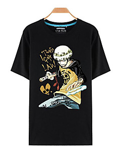"""billige Anime Kostymer-Inspirert av One Piece Roronoa Zoro Anime  """"Cosplay-kostymer"""" Cosplay T-skjorte Trykt mønster Kortermet Topp Til Herre Dame"""