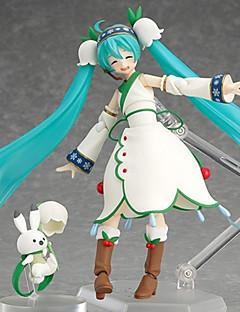 billige Anime cosplay-Anime Action Figurer Inspirert av Vokaloid Hatsune Miku 19 CM Modell Leker Dukke
