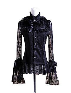 billiga Lolitamode-Prinsessa Söt Lolita Punk Spets Dam Blus / Skjorta Cosplay Poet Långärmad Lolita Halloweenkostymer