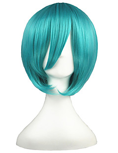 billige Anime cosplay-Cosplay Parykker Vokaloid Mikuo Anime Cosplay-parykker 35 CM Varmeresistent Fiber Herre Dame