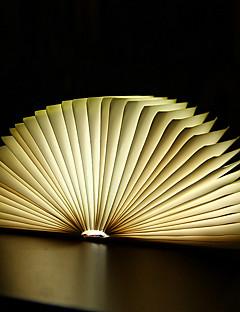tanie Światła prezentów-1szt Noc LED Light Wbudowany akumulator litowo-jonowy Akumulator / Zmieniająca Kolor / Dekoracja