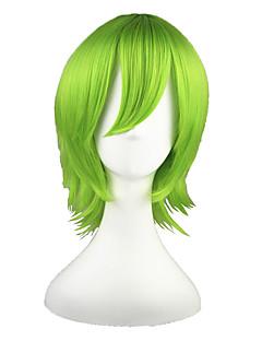 billige Anime cosplay-Cosplay Parykker Gjenfødt! Yoruichi Shihoin Grønn Anime Cosplay-parykker 14 tommers Varmeresistent Fiber Herre Dame Halloween-parykker