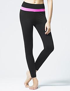 billiga Träning-, jogging- och yogakläder-CONNY Dam Yoga byxor - Svart / vit, Vit / Svart, Svart / Rosa sporter Cykling Tights / Leggings Löpning, Fitness, Gym Sportkläder Andningsfunktion Elastisk