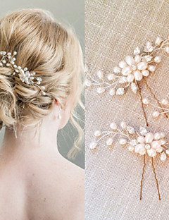 cheap Homecoming 2018-Pearl / Crystal Hair Combs / Hair Stick with 1 Wedding / Special Occasion Headpiece