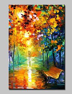 baratos Paisagens Abstratas-Pintura a Óleo Pintados à mão - Paisagens Abstratas Modern Tela de pintura