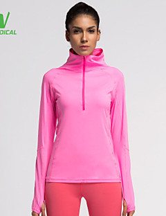 billige Løbetøj-Dame Løbe-T-shirt T-Shirt / Toppe - Sport Løb Hurtigtørrende, Komprimering, letvægtsmateriale Sort, Orange, Lys pink / Svedreducerende