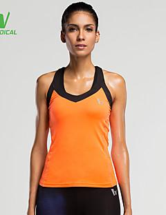 billige Løbetøj-Dame Løbe-T-shirt T-Shirt / Toppe - Sport Løb Hurtigtørrende, Komprimering, letvægtsmateriale Sort, Orange, Lilla / Svedreducerende