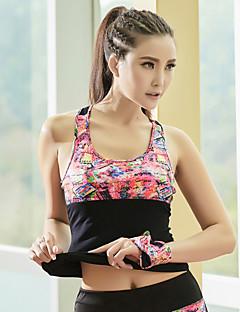 billige -Yoga Topper Pustende Myk Stretch Drakter Yoga & Danse Sko Pilates Løp Dame