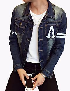 男性用 レタード 長袖 ジャケット,コットン / ポリエステル / スパンデックス カジュアル / プラスサイズ