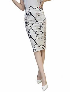 ieftine Fustă Stilou-Pentru femei Mărime Plus Size Bodycon Fuste Crăpătură Imprimeu