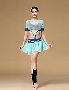 ベリーダンス ワンピース 女性用 訓練 ポリエステル モーダル ドレープ 1個 半袖 ローウエスト ドレス