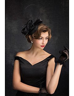 フラックス 羽毛 ネット ヘッドドレス かぶと