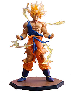 billige Anime cosplay-Anime Action Figurer Inspirert av Dragon Ball Cosplay PVC 17 CM Modell Leker Dukke