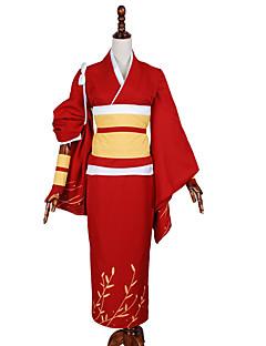 """billige Anime Kostymer-Inspirert av Bungo Stray Dogs Cosplay Anime  """"Cosplay-kostymer"""" Cosplay Klær Ensfarget Frakk Armbind Hansker Korsett Midje Tilbehør"""