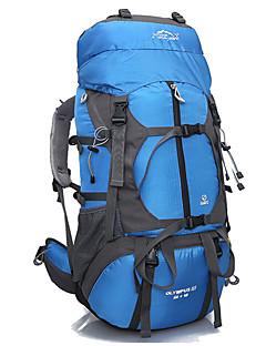 65 L Ryggsekk Pakker Reiseorganisator ryggsekk Camping & Fjellvandring Vanntett Fort Tørring Anvendelig Pustende Nylon Terylene