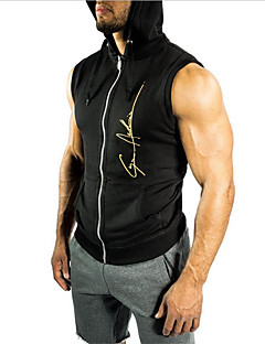 Men's Gym Tank Top Sleeveless Breathable Sweat-wicking Vest/Gilet Top for Exercise & Fitness Racing Leisure Sports Running Cross-Country