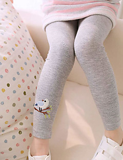 Girls' Daily Animal Print Pants,Cotton Spring Summer Fall Animal Print White Navy Blue Gray Yellow Pink