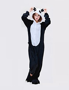 Kigurumi Pyjamas Panda Kostume Heldragtskostumer Pyjamas Sort hvid Cosplay Til Voksne Nattøj Med Dyr Jul Festival / Højtider