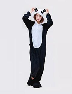 billige julen Kostymer-Voksne Kigurumi-pysjamas Panda Onesie-pysjamas Kostume polyester Svart / Hvit Cosplay Til Pysjamas med dyremotiv Tegnefilm Halloween Festival / høytid / Jul