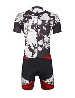 billige Sykkeljerseys-ILPALADINO Herre Kortermet Sykkeljersey med shorts Sykkel Klessett, Fort Tørring, Ultraviolet Motstandsdyktig, Pustende,
