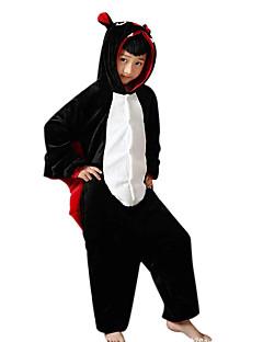 Kigurumi Pyjamas Lepakko Kokopuku Yöpuvut Asu Flanelli Fleece Musta Cosplay varten Lapset Animal Sleepwear Sarjakuva Halloween Festivaali