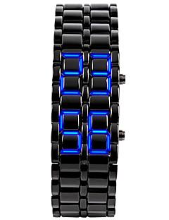 Pánské Náramkové hodinky Unikátní Creative hodinky Módní hodinky Digitální Kalendář LED Silikon Kapela Skládaný Černá Stříbro