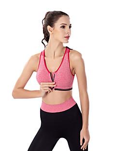 billiga Träning-, jogging- och yogakläder-Dragkedja fram Sport-BH med joggingbyxor Vadderad Medium stöd för Yoga - Röd / Grön / Blå Anti-Skakning, Snabb tork, Andningsfunktion Dam