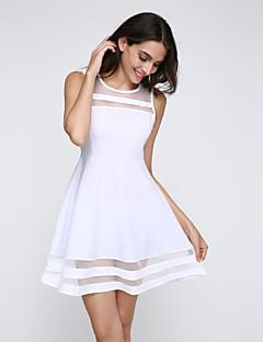 שמלה - מיני - שיפון/רשת/פוליאסטר - סקסי/חוף/קז'ואל/מסיבה/עבודה