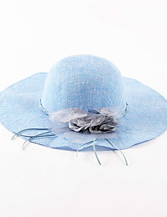 billige Trendy hatter-Dame Ferie Solhatt Ensfarget Lin
