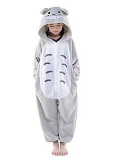 Kigurumi Pijama Kedi Totoro Tulum Pijamalar Kostüm Polar Kumaş Gri Cosplay İçin Çocuk Hayvan Sleepwear Karikatür cadılar bayramı Festival