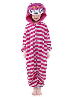Kigurumi Pyjamas Kissa Kokopuku Yöpuvut Asu Velvet Mink Vaaleanpunainen Cosplay varten Lapset Animal Sleepwear Sarjakuva Halloween