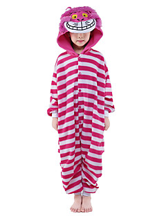 Pijama Kigurumi Gato Pijama Macacão Pijamas Ocasiões Especiais Mink Velvet Rosa Cosplay Para Criança Pijamas Animais desenho animado Dia