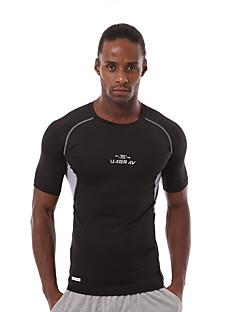 Heren Hardloopshirt Korte mouw Sneldrogend Ademend Zweetafvoerend Comfortabel Sweatshirt T-shirt Kleding Bovenlichaam voor