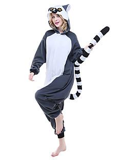 Kigurumi Pyjamas lemur Heldragtskostumer Pyjamas Kostume Polarfleece Blekk Blå Cosplay Til Voksne Nattøj Med Dyr Tegneserie Halloween