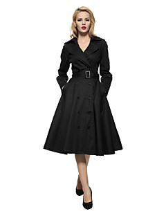 Maggie Tang Women's 50s VTG Retro Rockabilly Hepburn Pinup Swing Business Dress Parka 586