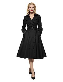 Sukienka swingowa Sukienka Obuwie damskie Codzienne / Eleganckie / Praca Vintage / Moda miejska / Wyrafinowany styl Jendolity kolor,