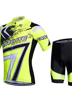 Fastcute Camisa com Shorts para Ciclismo Homens Mulheres Crianças Unisexo Manga Curta Moto Shorts Calças Pulôver Camisa/Roupas Para