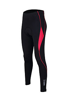 cheap Cycling Pants, Shorts, Tights-TASDAN Women's Cycling Tights Bike Pants / Trousers / Tights / Padded Shorts / Chamois 3D Pad, Quick Dry, Breathable Solid Colored Nylon,