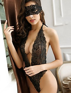 Women's Lace Lingerie Ultra Sexy Teddy Nightwear,Sexy Lace Solid-Thin Polyester Lace